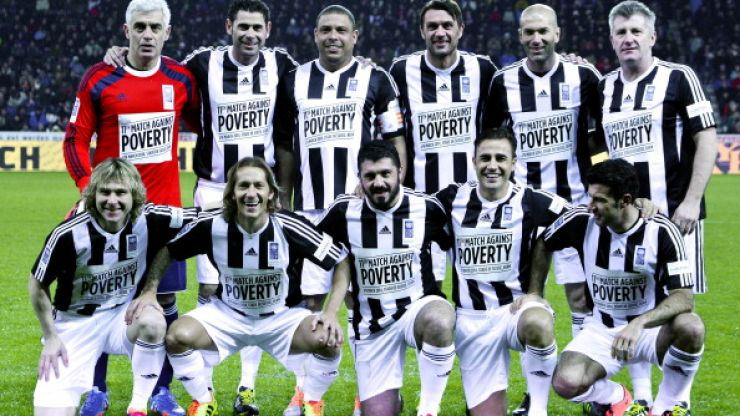 Picture: Top marks if you can name all the footballers in Luis Figo's epic dressing room snap