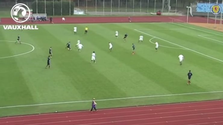 Video: A superb 40-yard goal by a Scottish U19 international
