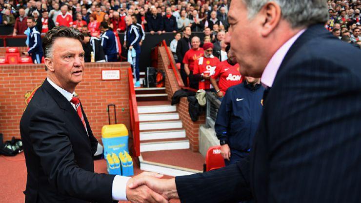 Sam Allardyce 'disappointed' Louis van Gaal didn't invite him for a glass of wine last weekend
