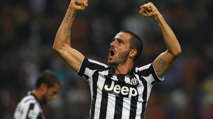 Leonardo Bonucci scores a sizzling volley for Juventus against Roma