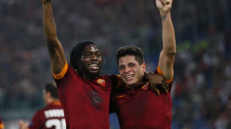Vine: Check out Gervinho's delightful reverse pass as Iturbe gives Roma lead v Juventus