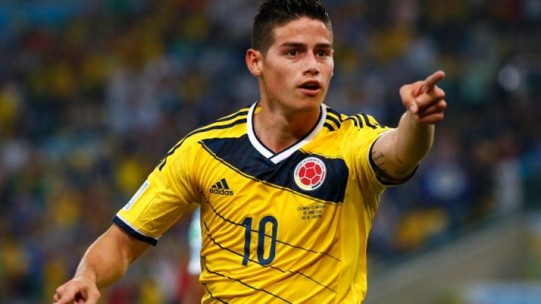 Video  James Rodriguez scored a peach for Colombia last night  98524db3b