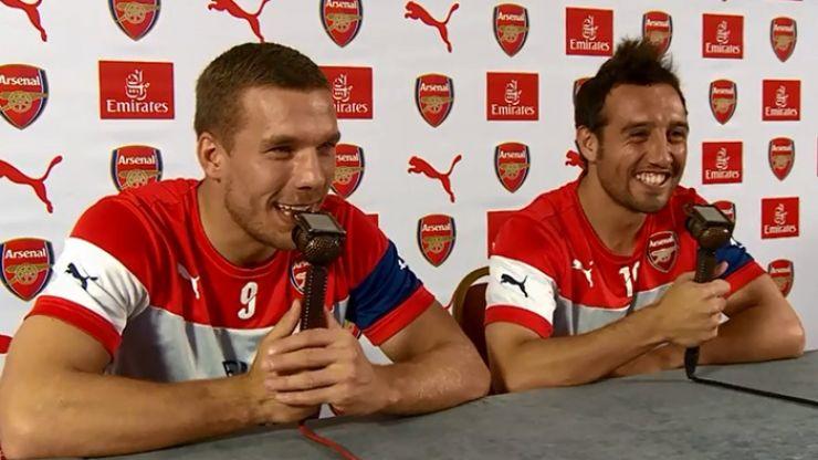 Video: Lukas Podolski and Santi Cazorla having mighty craic commentating on an Arsenal game