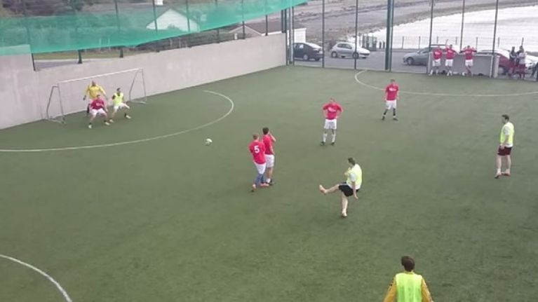 Video: This slow motion astroturf free kick from Galway is