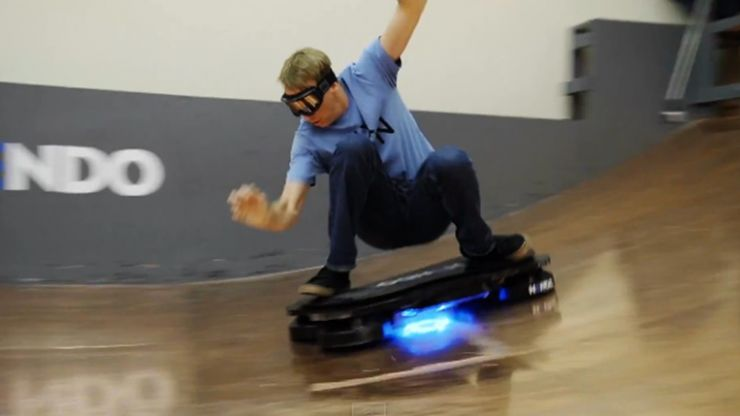 Video: Pro skater Tony Hawk tries out a real life hoverboard but Marty McFly is still cooler