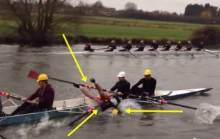 Video: This rower heartbreakingly fell out of his boat midway through a race