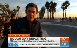 Video: TV reporter smacked on the head by rogue skateboard during broadcasting