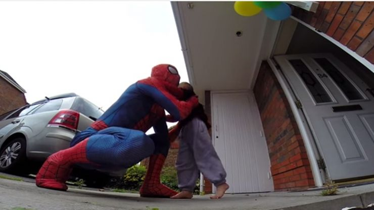 Video: Dad dresses up as Spider-Man as a birthday surprise for his terminally-ill son and it's just fantastic