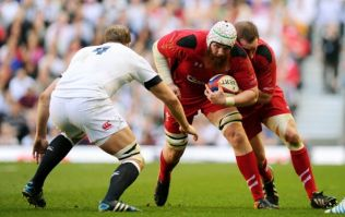 Pic: Welsh lock Jake Ball delivered a great response to the BBC typo referring to him as 'ballsack'