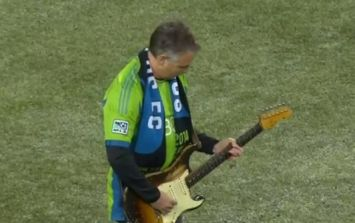 Video: Pearl Jam guitarist nails the Star Spangled Banner before an MLS game