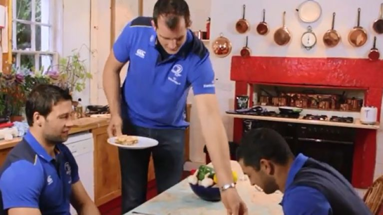 Leinster Rugby 'Scrum Dine with Me' in association with Optimum Nutrition: Devin Toner