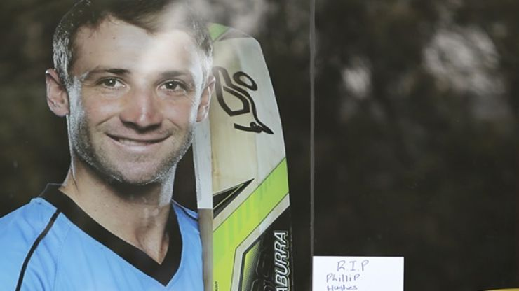 Pic: A hurler in Kilkenny has paid his tribute to the late Phillip Hughes