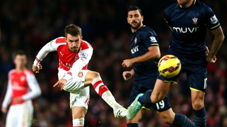 Pic: Aaron Ramsey refuses to shake Piers Morgan's hand after the Chelsea match