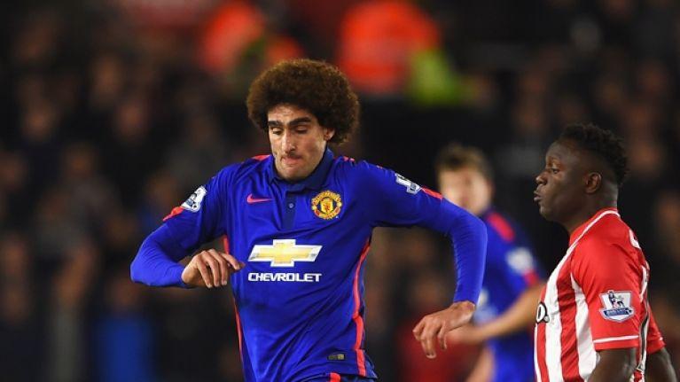 acbcfffb Twitter slams Marouane Fellaini's first half performance for Manchester  United