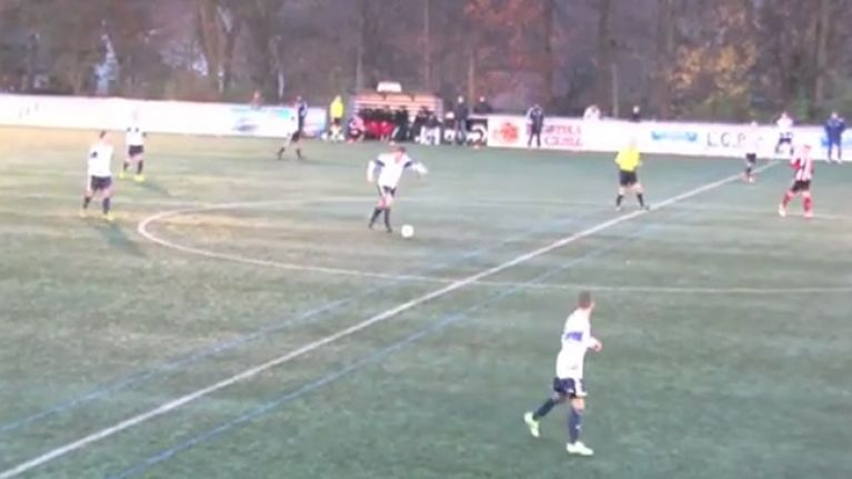 Video: German 6th division player scores from his own half