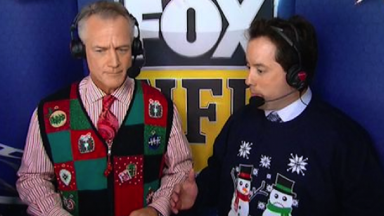 Pic: NFL commentator wears inappropriate 'carrot penis' Christmas jumper on live TV