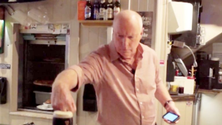 Video: Alf Stewart is named this Cork bar's Employee Of The Month