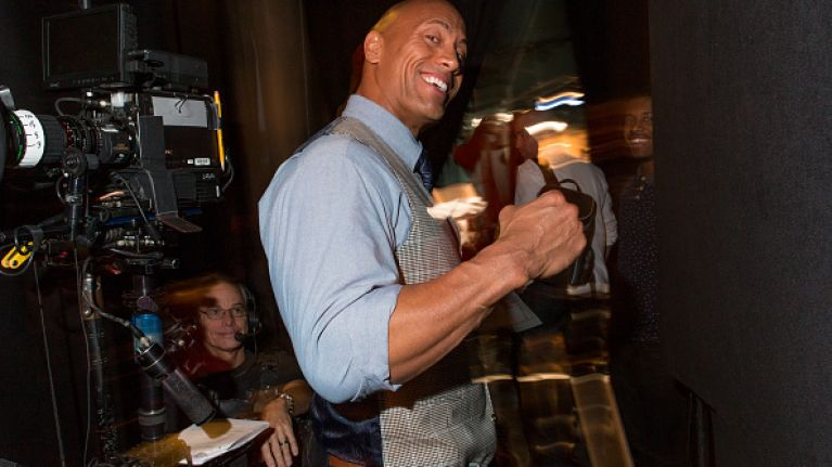 Pic: The Rock proves once again that he definitely doesn't skip leg day