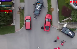 Video: Filmmakers recreate Grand Theft Auto 2 in real life using a drone