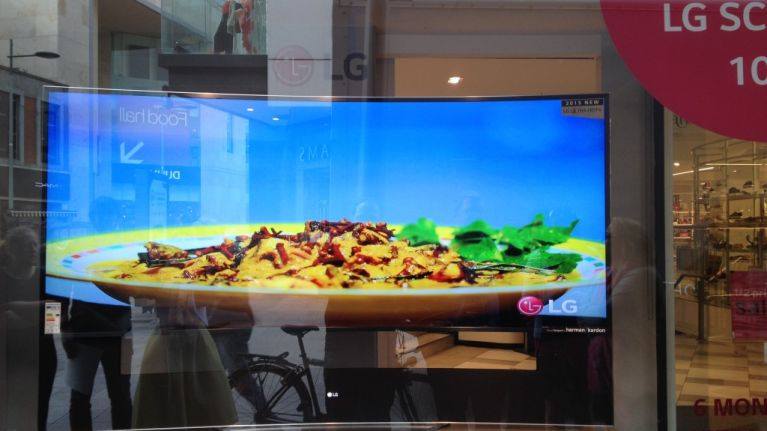 """Check out Ireland's BIGGEST curved TV screen… it's 105"""" & only €82,599"""