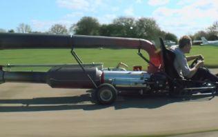 Video: This jet powered go-kart looks like great craic