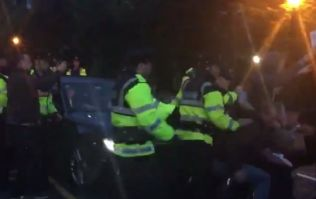 Video: Tánaiste Joan Burton has her car blocked by anti-water charges protestors in Dublin