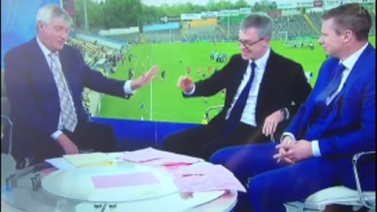 Video: Joe Brolly's 'ugly' joke about Marty Morrissey on The Sunday Game didn't go down well