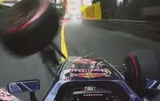 Video: On-board footage of 17-year-old Max Verstappen's crash at the Monaco GP today