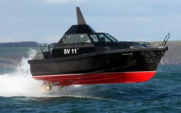 Video: This James Bond-style stealth boat built in Cork looks VERY menacing in action