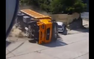 Video: This man might be the luckiest driver alive after he narrowly avoided being crushed