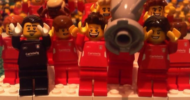 The famous '05 Liverpool v AC Milan Champions League final has been recreated in Lego