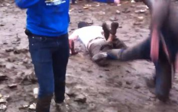 Video: Was the lad that slipped on the ice at Slane yesterday?