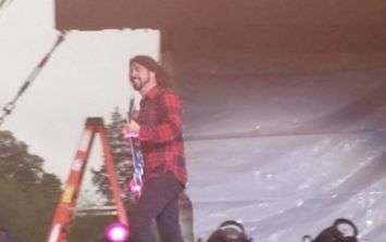 Pic: These fan captured photos of Foo Fighters frontman Dave Grohl at Slane are great
