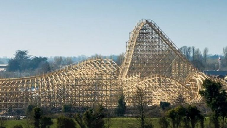 Video We Rode The Biggest Wooden Rollercoaster In Europe Which