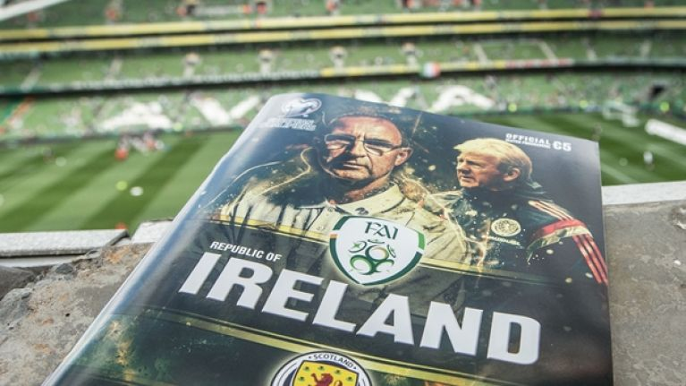 Pic: The funniest 'banner' at the Aviva Stadium today