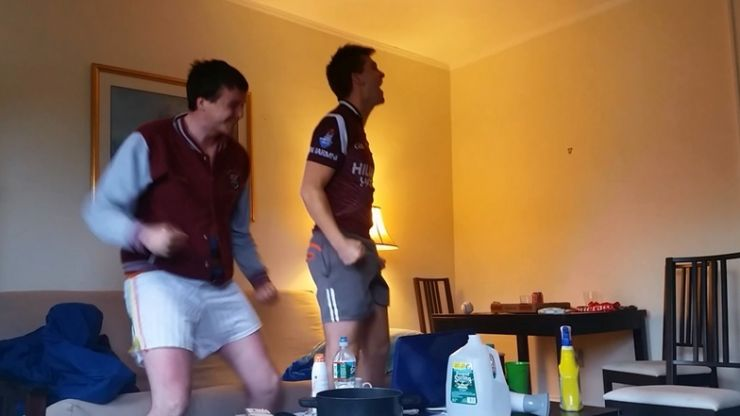 Video: Two J1 students in Boston go through all the emotions watching Westmeath's famous win