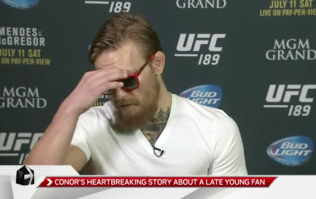 Video: Conor McGregor gets emotional talking about the tragic loss of a young fan