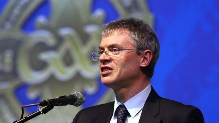 PICS: Joe Brolly looked delighted to receive this great gift at Croke Park