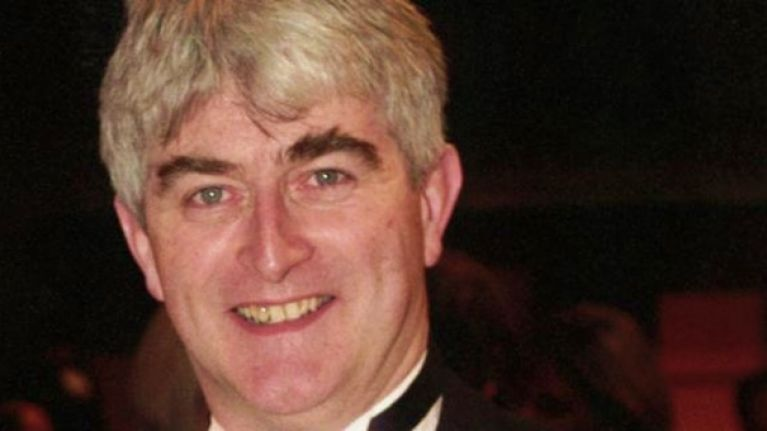 PIC: Dermot Morgan's sons with a stunning giant mosaic of their dad in Dublin