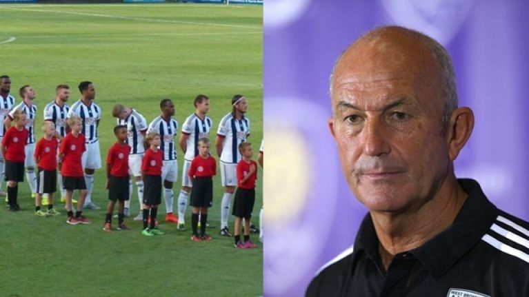 West Brom manager Tony Pulis has his say on James McClean's flag