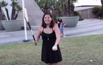 Video: Americans try to play hurling for the first time