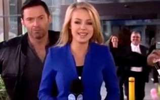 Video: Hugh Jackman photobombs Aussie newsreader during live broadcast