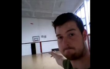 Video: Irish man lands an incredible trick shot with a frisbee