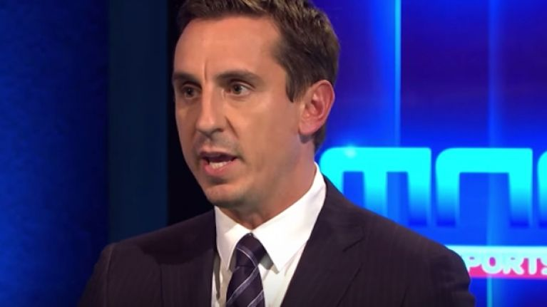 Everyone was shook by Gary Neville's assessment of Arsenal's performance against Man City