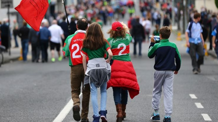PIC: This Mayo fan had a very unlucky start to his day at Croke Park