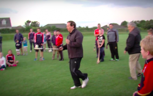 VIDEO: Marty Morrissey took on the Crossbar Challenge with three hurling All Stars and something magical happened