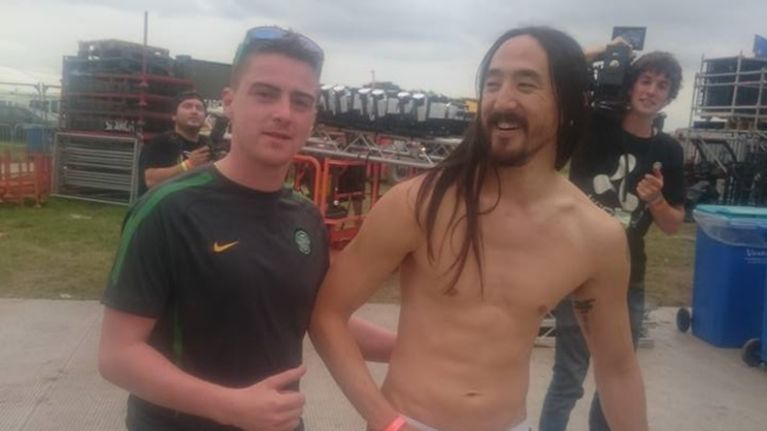 PIC: Irish lads blag their way backstage at Creamfields to meet Avicii and Steve Aoki