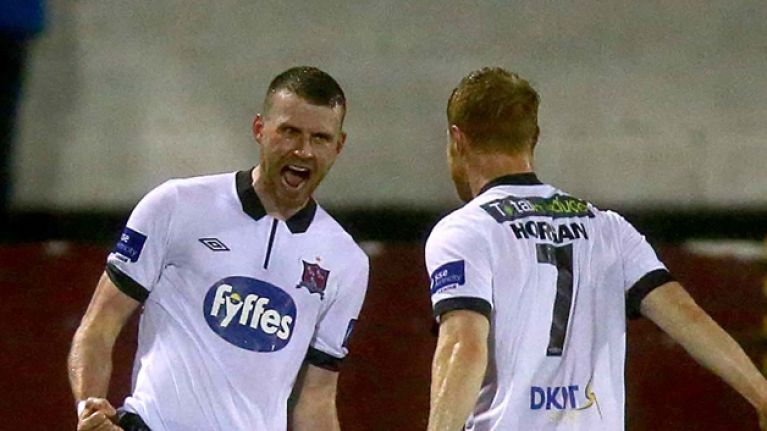 Video: Stop what you're doing and watch Ciarán Kilduff's stunning volley for Dundalk