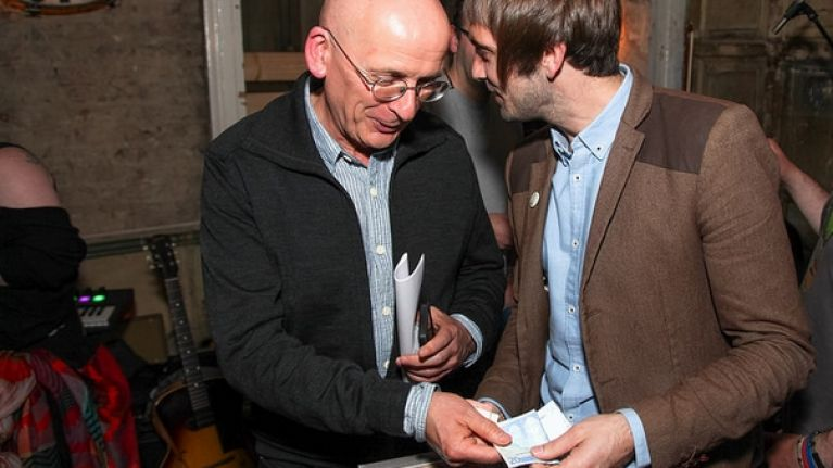 PICS: Roddy Doyle and Glen Hansard meet door-to-door musician Anderson