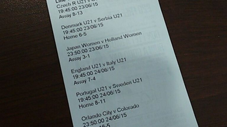 PIC: Here's what this Irish guy's betting slip for a 7